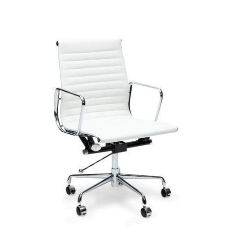Eames Lounge Chair White Leather by Management Leather Office Chair Eames Replica White