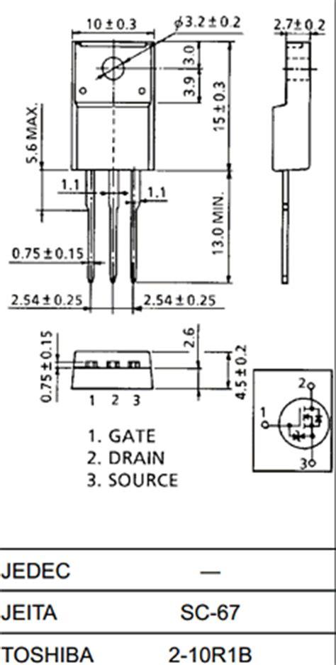 k2545 datasheet pdf vdss 600v nch mosfet toshiba