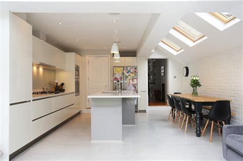 stylish kitchen extension in terraced