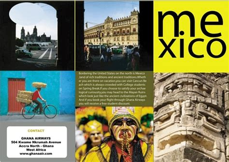 17 Great Travel Brochure Exles Fit For Globetrotters Uprinting Mexico Brochure Template