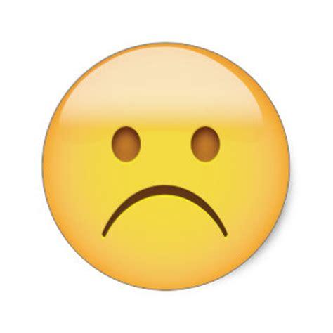 emoji sad face sad emoji face stickers zazzle
