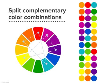split complementary colors exle
