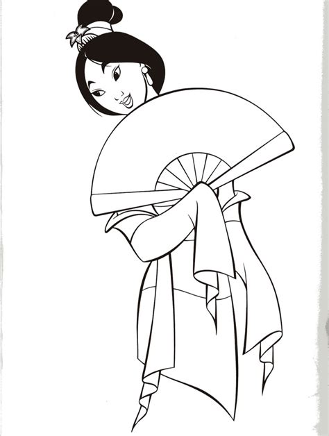 mulan coloring pages to print az coloring pages