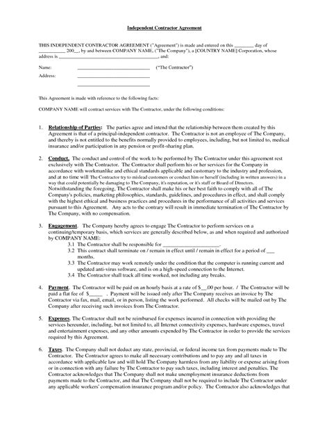 contract for contractors template independent contractor contract by brittanygibbons