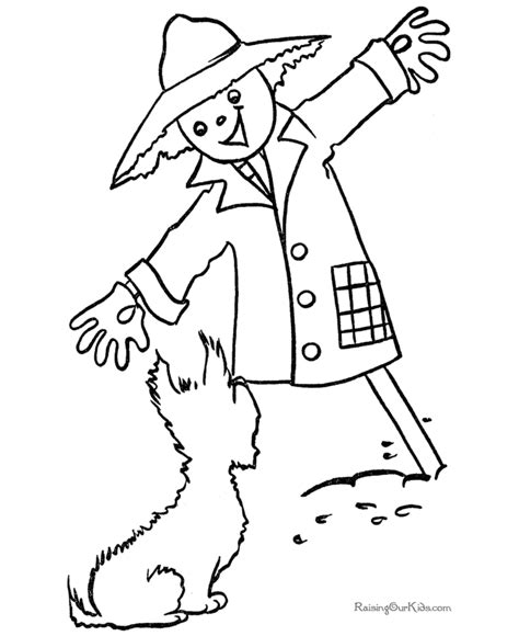 halloween scarecrow coloring pages az coloring pages