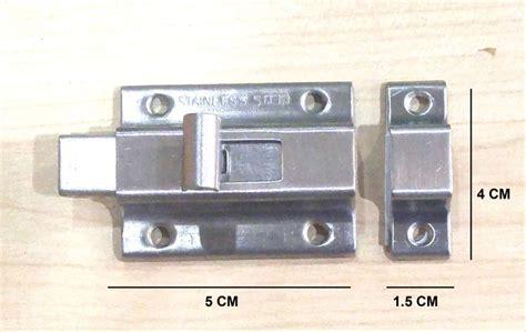 jual slot pintu kotak cm grendel stainless steel
