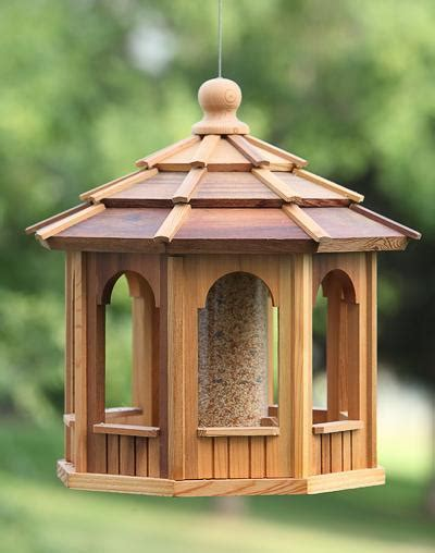 hanging cedar gazebo bird feeders wood bird house kits