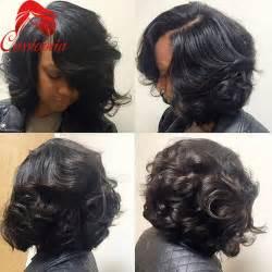 bob wigs human hair black aliexpress com buy short curly bob u part human hair