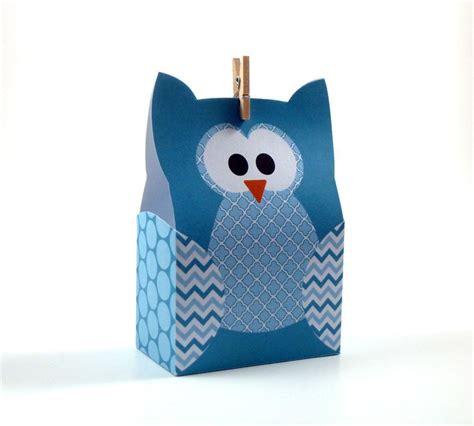 paper bag owl pattern owl gift bag by littlestuffme paper crafts pattern