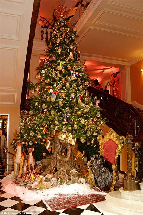 who introduced xmas trees to britain dolce gabbana unveil spectacular tree at claridge s daily mail