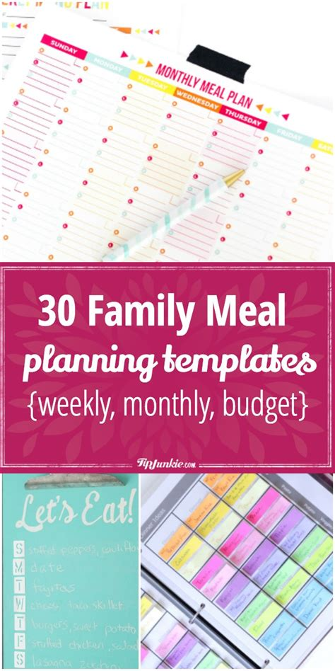 family menu planner template 30 family meal planning templates weekly monthly budget