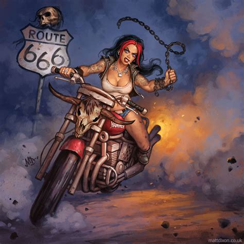 route 666 david mann pinterest pinup art motorcycle