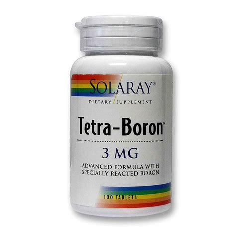 Boron Detox Symptoms by Solaray Tetra Boron 100 Tablets Evitamins