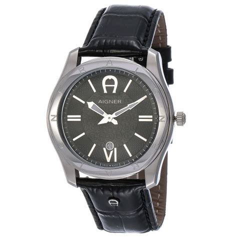 buy aigner lazio for swiss made black leather