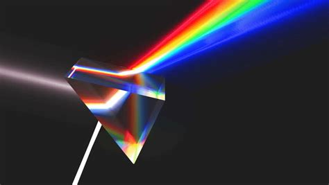color prism infinite color changing prism stock footage 202393