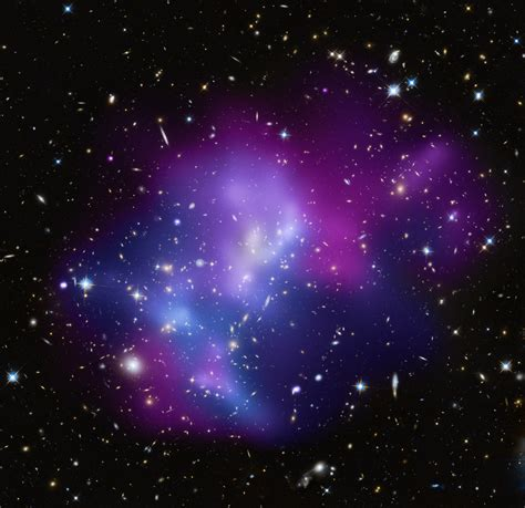 Galaxy Lights by File Cosmic Heavyweights In Free For All One Of The Most Complex Galaxy Clusters Located About