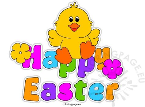 easter clipart clipart happy easter coloring page