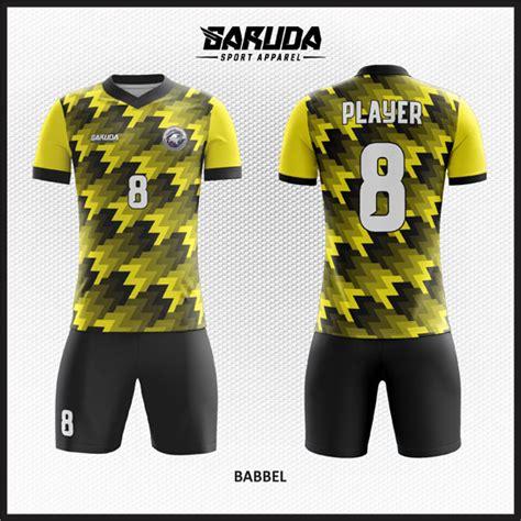 desain kaos futsal kuning hitam desain kostum futsal custom babbel dua varian warna