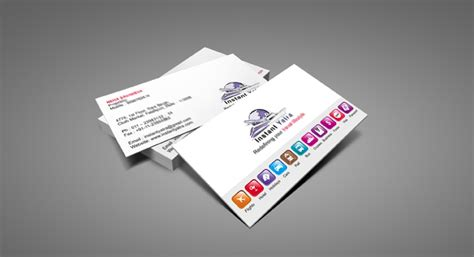Business Card Design and Printing for Tours & Travels ... D Alphabet Design