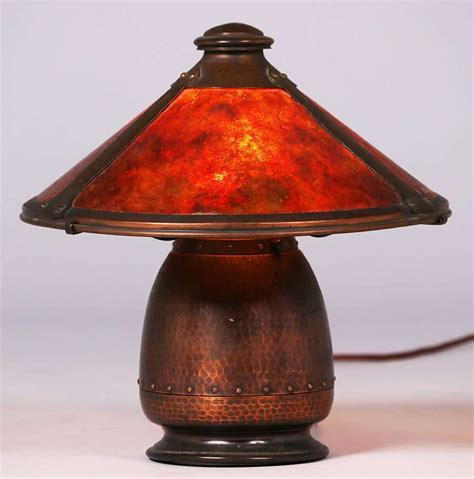 Roycroft Bookcase Old Mission Kopper Kraft Lamp California Historical Design