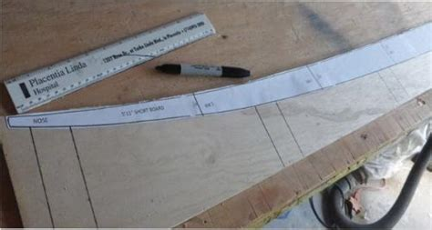 longboard template maker size spar templates to build a hollow wooden surfboard