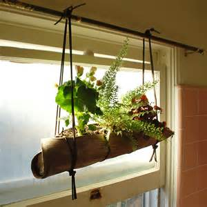 hanging plant ideas palm frond hanging planter ideas realized