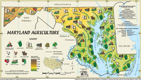 maryland agriculture map image gallery maryland agriculture