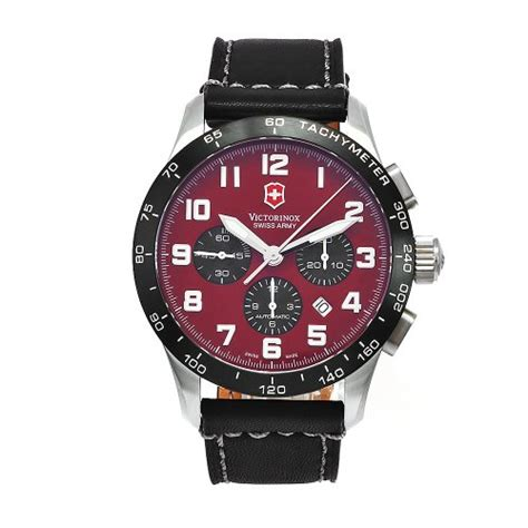 Swiss Army Date Chrono Black Leather Grade A best buy victorinox swiss army s 24785 1000 airboss mach 6 black leather automatic