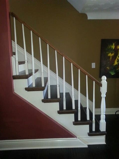 staircase remodel wood flooring is bamboo with white trim wall paint colours are benjamin