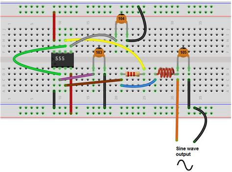 circuit to breadboard converter how to build a sine wave generator with a 555 timer chip