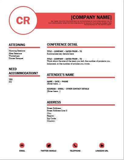 Conference Registration Template