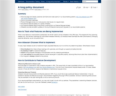 developer documentation template confluence 3 2 release notes confluence