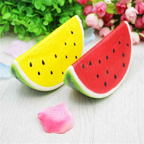 Rising Mainan Squishy Fruit Jumbo squishy jumbo watermelon 14cm rising fruit collection