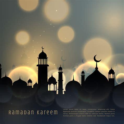ramadan kareem islamic seasonal greeting  bokeh effect