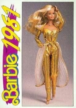 golden dream barbie trading card   panini