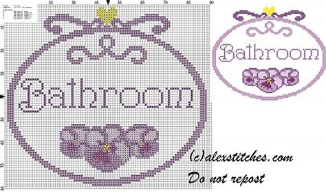 bathroom cross stitch patterns free bathroom simple pansy cross stitch pattern free cross