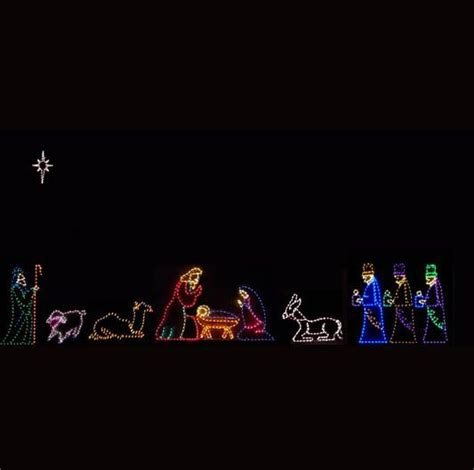 outside lighted nativity lighted outdoor nativity holidays