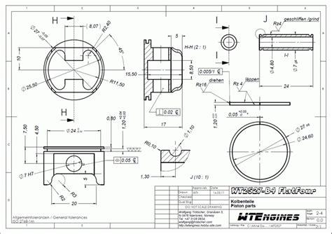 technical diagram exles wtengines musterzeichnung exle drawing