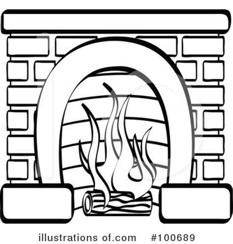 fireplace clipart 100689 illustration by andy nortnik