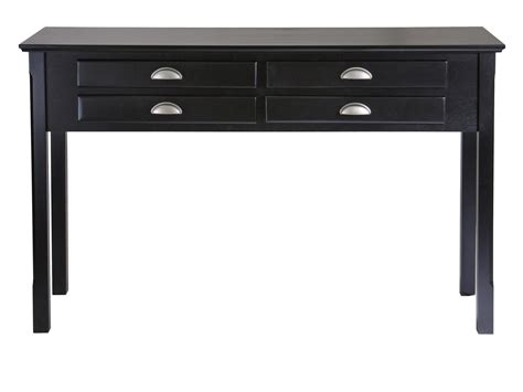 Hallway Table With Drawers Winsome Timber Console Table Drawers By Oj Commerce 20450 171 54