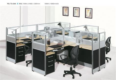 china modern wood and aluminum office furniture pg t3 04a