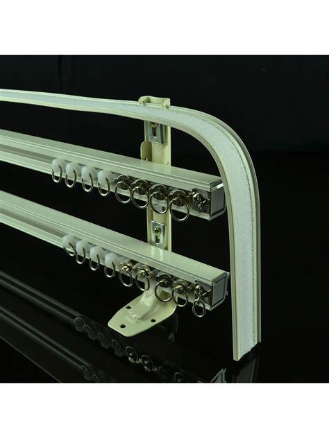 triple curtain rail chr8124 ivory triple curtain tracks with valance track