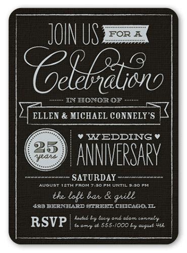 25 wedding anniversary invitation 25th anniversary ideas and themes shutterfly