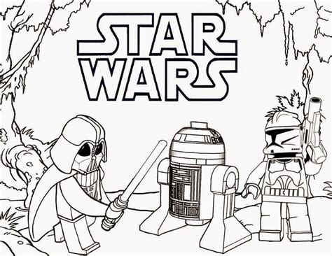 lego coloring pages star wars to print lego star wars coloring sheets coloring home