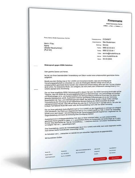 Bearbeitungsgebühr Darlehen Bgh Musterbrief Widerspruch Gema Geb 252 Hren Hotelbetreiber Vorlage Zum
