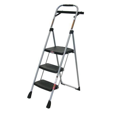 one step stool bunnings gorilla 120kg 3 step household ladder bunnings warehouse