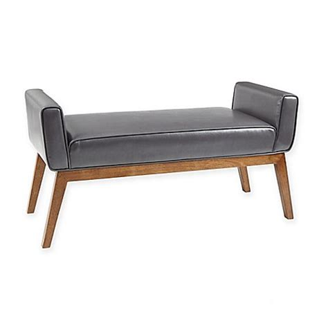 madison bench buy madison park hansen bench in smoke grey from bed bath