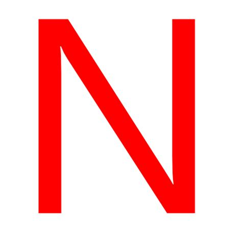 Free red letter n icon download red letter n icon