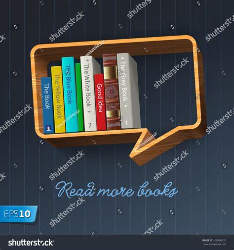 bookshelf in the form of speech vector eps10