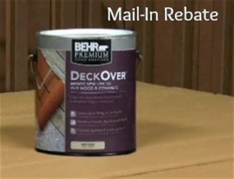 home depot behr paint rebate 5 1 gallon or 20
